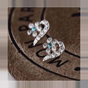 365266073df2 Jewelry - Simple Crystal Peach Rhinestone Earrings